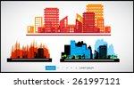 set of cityscape backgrounds   Shutterstock .eps vector #261997121