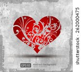 graphic grunge heart  ink... | Shutterstock .eps vector #262000475