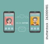 vector illustration of online... | Shutterstock .eps vector #262000481