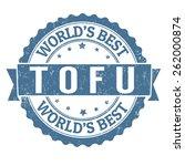 tofu grunge rubber stamp on... | Shutterstock .eps vector #262000874