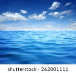 blue sea water surface on sky | Shutterstock . vector #262001111