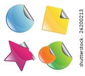 set of 4 peel off stickers... | Shutterstock .eps vector #26200213