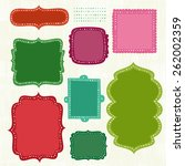 simplistic frame collection   Shutterstock .eps vector #262002359
