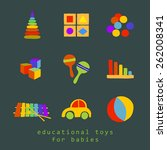 vector set of icons educational ...