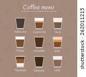 coffee menu on seamless... | Shutterstock .eps vector #262011215