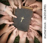 bible study group | Shutterstock . vector #262016981