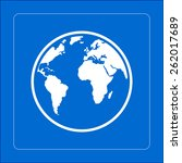 globe icon.   Shutterstock .eps vector #262017689