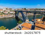 dom luis i bridge in porto in... | Shutterstock . vector #262017875
