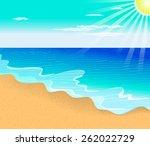 tropical beach | Shutterstock .eps vector #262022729