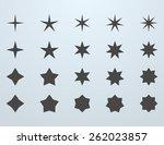 set of stars | Shutterstock .eps vector #262023857