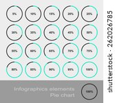 circle diagram pie charts... | Shutterstock .eps vector #262026785