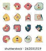 christmas sticker flat banner... | Shutterstock .eps vector #262031519