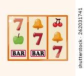 casino slot machine theme... | Shutterstock . vector #262031741