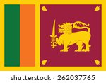 flag of sri lanka. vector... | Shutterstock .eps vector #262037765