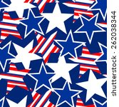 usa stars and stripes seamless... | Shutterstock .eps vector #262038344