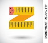 centimetr. single flat icon on... | Shutterstock .eps vector #262047149
