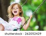 Child  Playing  Playground.