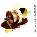 hand coffee grinder with... | Shutterstock . vector #26205397