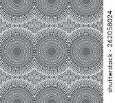 seamless pattern. vintage... | Shutterstock .eps vector #262058024