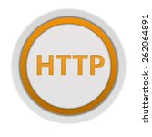 http circular icon on white... | Shutterstock . vector #262064891