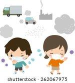 air pollution  | Shutterstock .eps vector #262067975