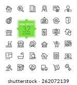 outline web icons set   real... | Shutterstock .eps vector #262072139