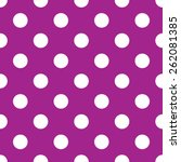 Seamless Purple Polka Dot...