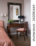 Stock photo stylish bedroom interior 262081664