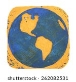 world stamp | Shutterstock . vector #262082531