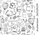 school hand drawn doodle... | Shutterstock .eps vector #262109159