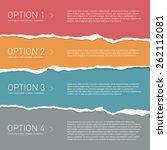vector torn paper background.... | Shutterstock .eps vector #262112081