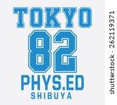 college sport tokyo typography  ...   Shutterstock .eps vector #262119371