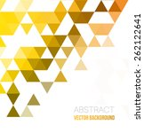 vector abstract geometric... | Shutterstock .eps vector #262122641