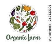 organic farm logo design  | Shutterstock .eps vector #262123301
