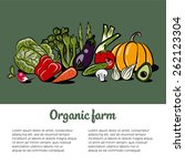 healthy lifestyle illustration  ... | Shutterstock .eps vector #262123304