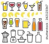 beverage vector thin line...   Shutterstock .eps vector #262123367