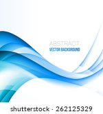 vector abstract blue curved... | Shutterstock .eps vector #262125329