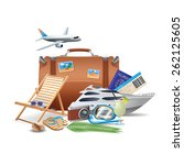 tourism and travel concept with ... | Shutterstock .eps vector #262125605