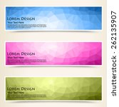 abstract colorful set of shiny... | Shutterstock .eps vector #262135907
