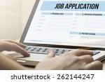 job search concept  man using a ... | Shutterstock . vector #262144247