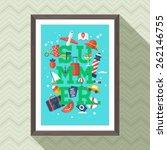 summer vacation lettering... | Shutterstock .eps vector #262146755