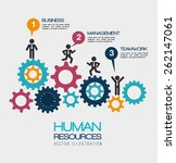 human resources over white... | Shutterstock .eps vector #262147061