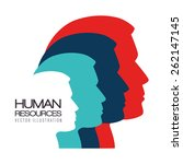 human resources over white... | Shutterstock .eps vector #262147145