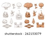 Set Of Sketch Objects For Game...