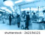 cashier store blur with bokeh... | Shutterstock . vector #262156121