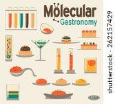 molecular gastronomy 2 set.... | Shutterstock .eps vector #262157429