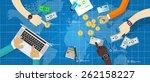 fiscal monetary | Shutterstock .eps vector #262158227