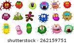 cartoon bacteria collection set ... | Shutterstock .eps vector #262159751