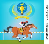 the champion of race horse... | Shutterstock .eps vector #262162151