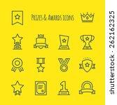 prizes   awards vector line... | Shutterstock .eps vector #262162325